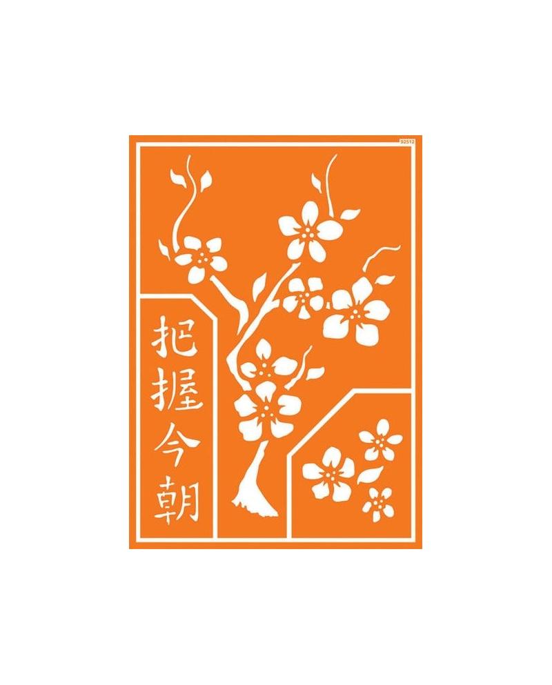 """Javana trafaretai A4 (Chinese """"Carpe Diem"""")"""
