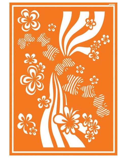 Javana trafaretai A4, Gėlės (Flower Power)