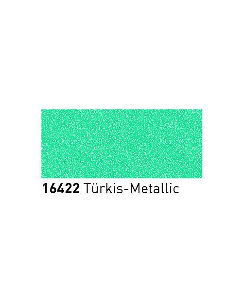 Markeriai porcelianui, keramikai su metalo blizgesio efektu (2-4mm), Turkis (Turquoise)