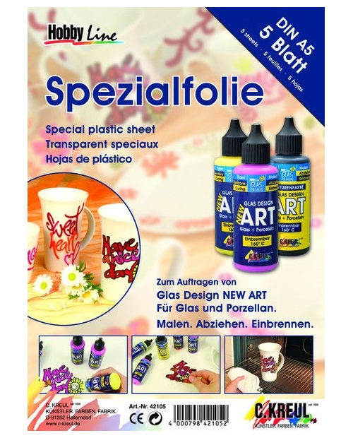 ART glas+porcelain specialios plėvelės rinkinys 5 vnt.