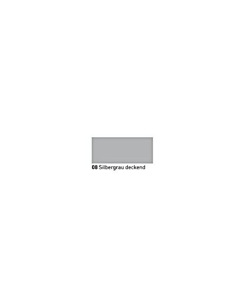 """""""Vitražiniai"""" dažai (Transparent Glass Paint) 20ml, Sidabrinė pilka dengianti (Silver Gray opaque)"""