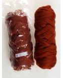 Merino vilna 19,5 mic rūdžių ruda (Rost)