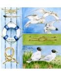 Gyvūnai,paukščiai 25x25cm