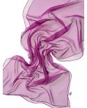 Šilkinis šalikėlis (Chifon 3,5) 180x45cm (purpurinė)