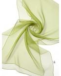 Šilkinis šalikėlis (Chifon 3,5) 180x45cm (laimo žalia)