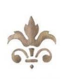 Trafaretas 7x10cm Stilizuota Lelija (Lily sign2)