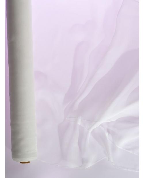 Tvilas (sarža) 10, 90cm pl. 40g/m 100% šilkas natūrali balta spalva