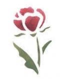 Trafaretas 7x10cm Rožė (Rose)