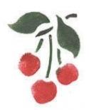 Trafaretas 7x10cm Vyšnios (Cherries)