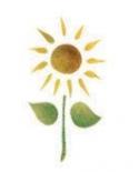 Trafaretas 7x10cm Saulėgrąža (Sunflower)