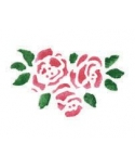 Trafaretas 13 x 16cm Rožių žiedai (Rose blooms)