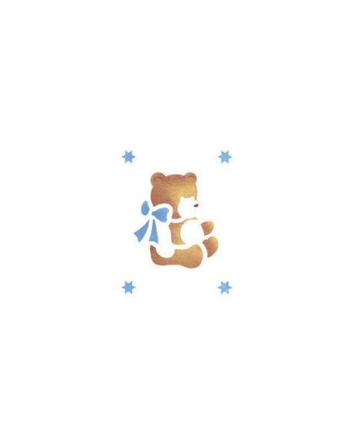 Trafaretas 18 x 24cm Pliušinis Meškiukas (Teddy bear)