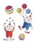 Trafaretas 18 x 24cm Klounai (Clowns)