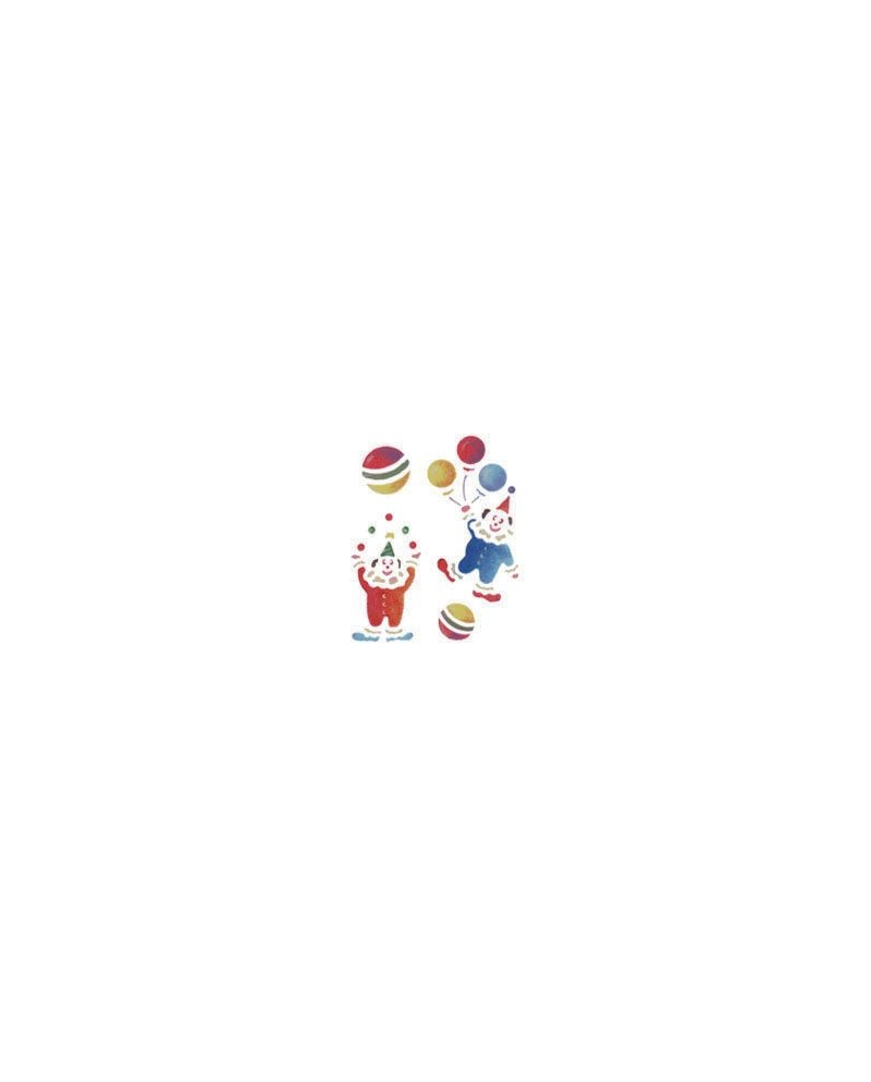 Trafaretai 18 x 24cm Clowns