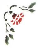 Trafaretas 18 x 24cm Gvazdikas (Carnation)