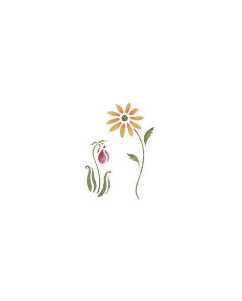 Trafaretas 18 x 24cm Gėlių Dekoracija (Flower decoration)