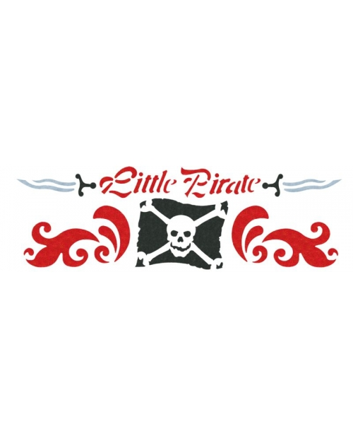 Trafaretas 13 x 40cm Mažasis Piratas (Little Pirate)