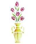 Trafaretas 18 x 50cm Tulpės Vazoje (Tulip vase)