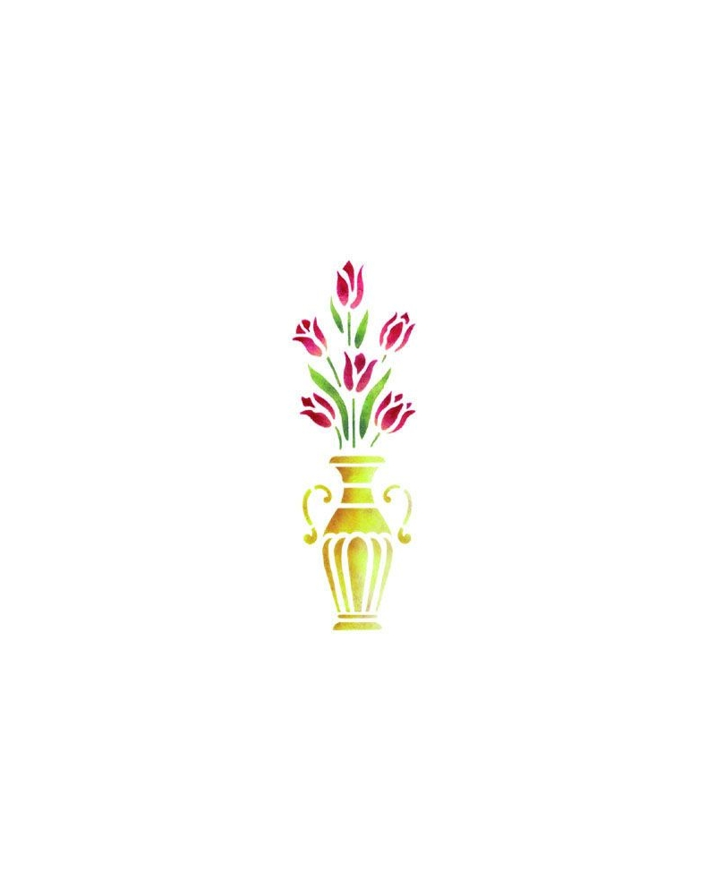 Trafaretai 18 x 50cm Tulip vase