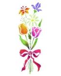 Trafaretas 18 x 50cm Gėlių Puokštė (Flower bouquet)