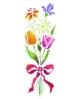 Trafaretai 18 x 50cm Flower bouquet