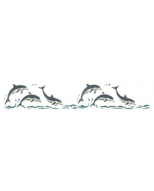 Trafaretas 11 x 70 cm Delfinai (Dolphinns)