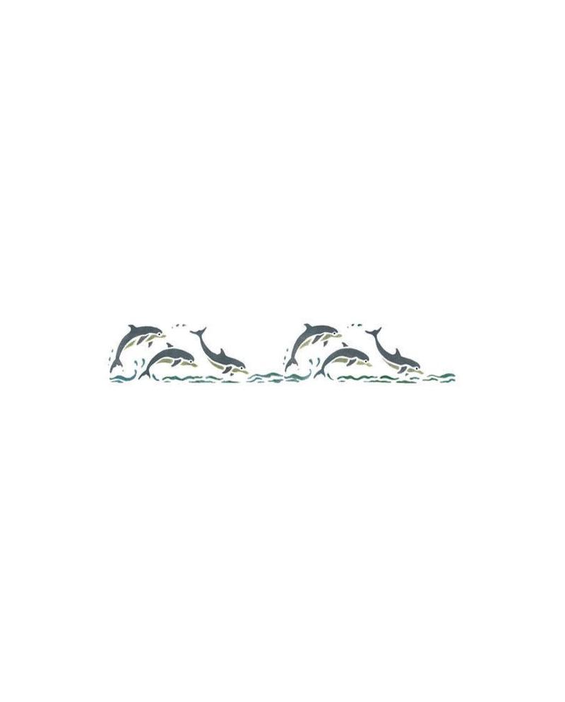 Trafaretai 11 x 70 cm Dolphinns