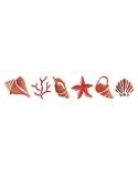Trafaretas 11 x 70 cm Kriauklės (Shells)