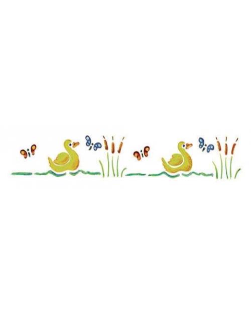 Trafaretas 11 x 70 cm Antytės (Ducks)