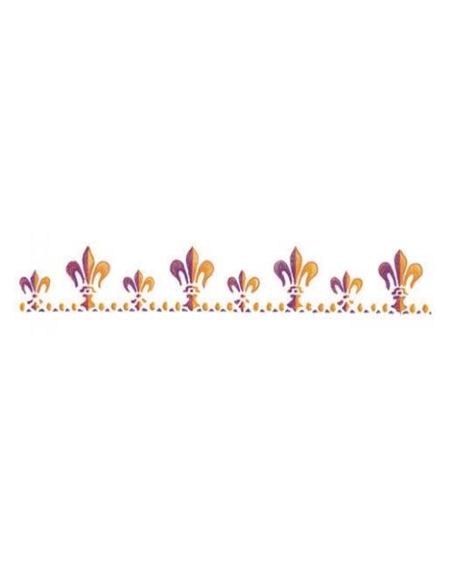 Trafaretas 11 x 70 cm Stilizuotos Lelijos (Lily singns)