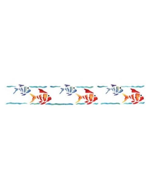Trafaretas 11 x 70 cm Žuvytės (Fishes)