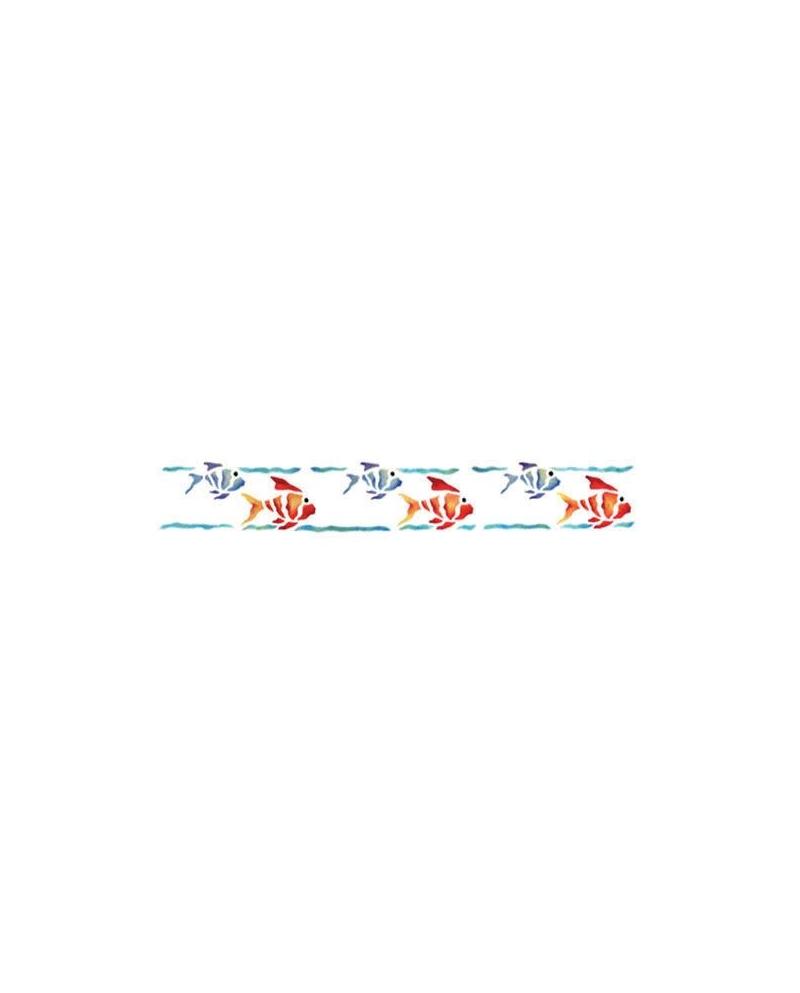 Trafaretai 11 x 70 cm Fishes