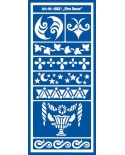 Trafaretas 28,5 x 12,5 cm, Dekoro ornamentai (Fine Decor)