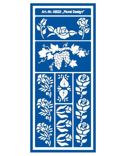 Trafaretas 28,5 x 12,5 cm, Gėlės (Floral Design)