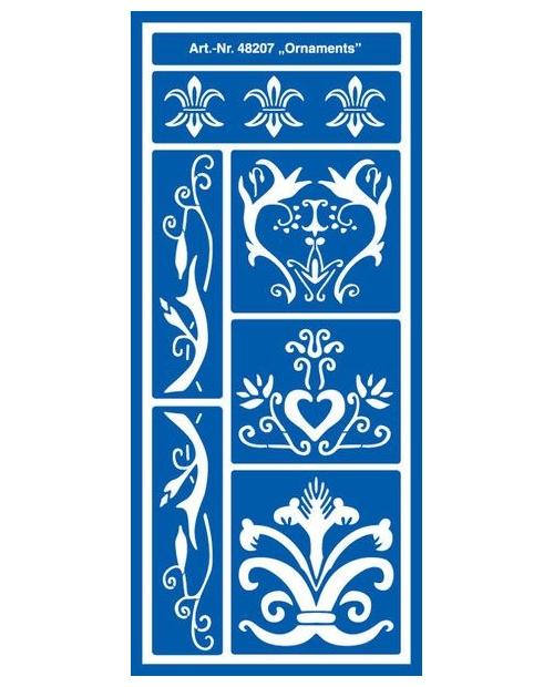Trafaretas 28,5 x 12,5 cm, Ornamentai (Ornaments)