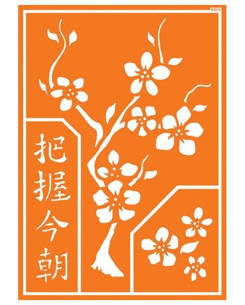 """Trafaretas A4 Chinese, """"Gyvenk šia diena"""" (""""Carpe Diem"""")"""