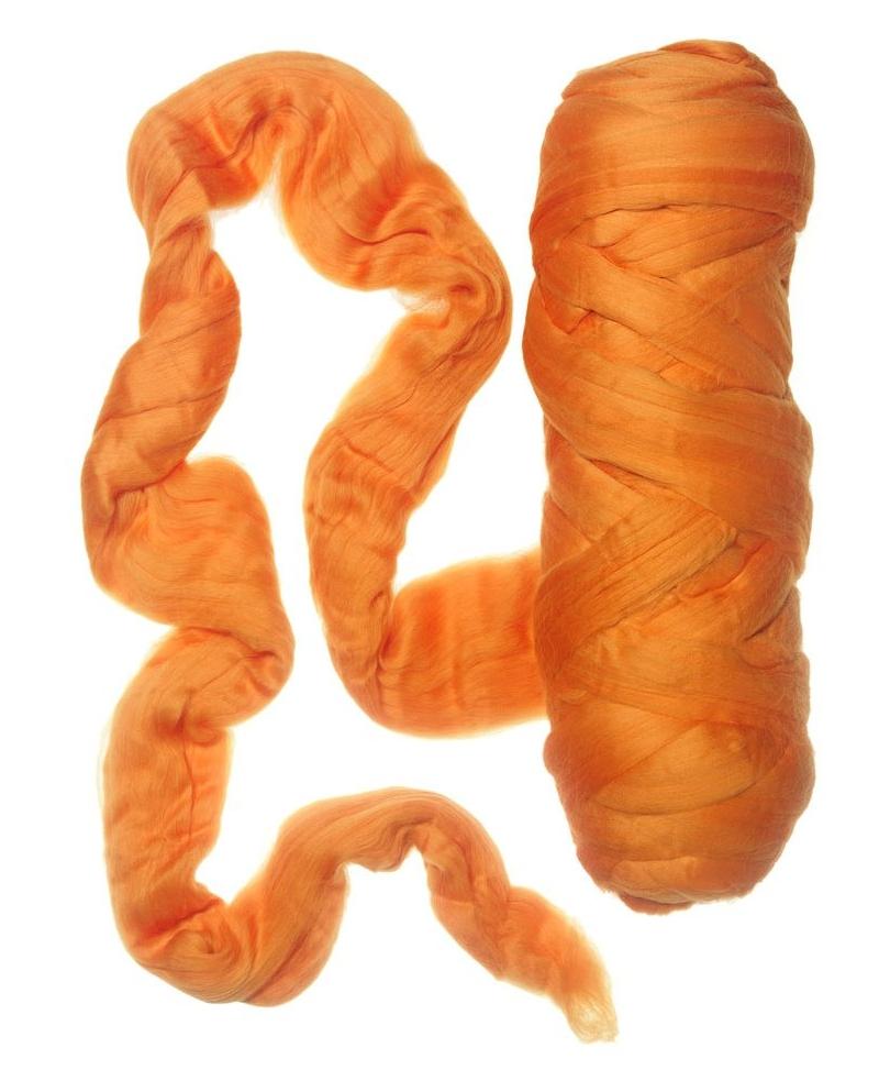 Merino vilna 19.5mic ( Tangerine )