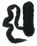 Merino vilna 19.5mic, Juoda (Black) vilnos likutis 0.022kg