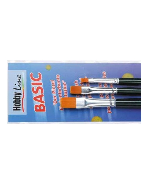 Hobby Line Brush Set BASIC,flat