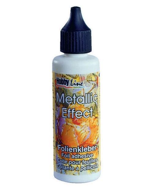 Metallic effect foil adhesive