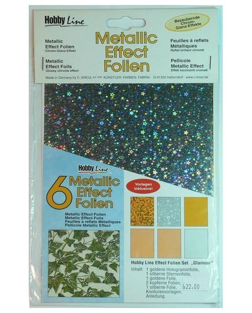"Metallic effect foil set ""Glamour"""