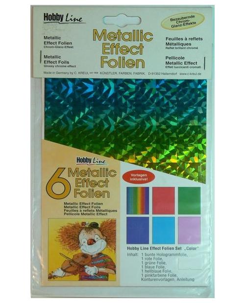 """Metallic effect foil set """"Color"""""""