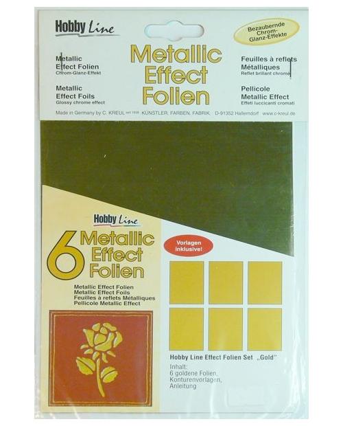 "Metallic effect foil set ""Gold"""