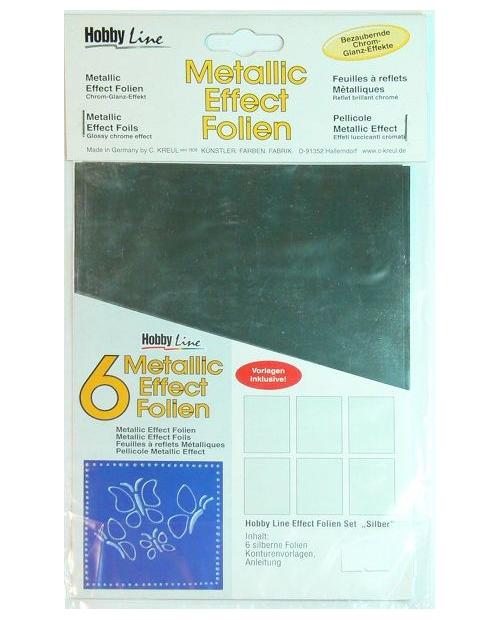 """Metallic effect foil set """"Silver"""""""