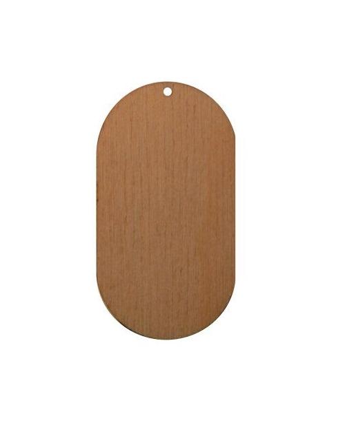 mediniai auskarų pagrindai 3.0cm x 5.5cm 1vnt.