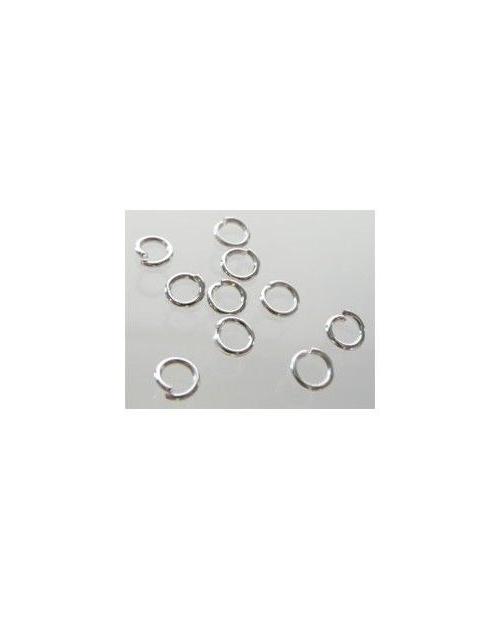 balto metalo žiedeliai 5mm 1vnt.