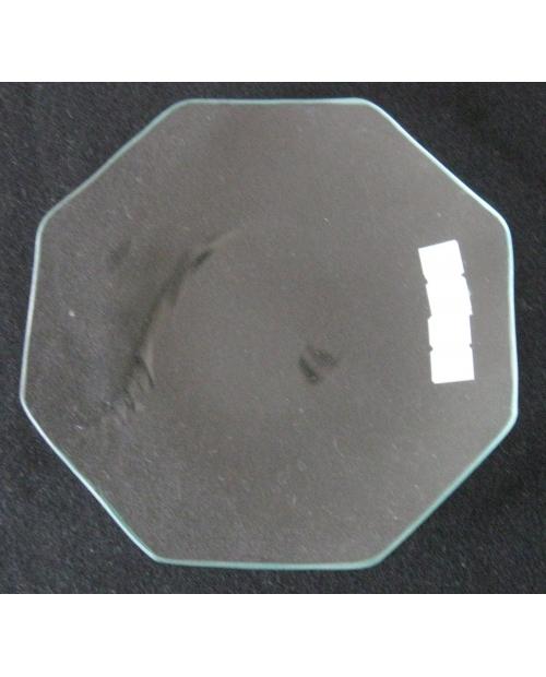 Stiklinė lėkštė (organinis stiklas), aštuonkampė 15cm
