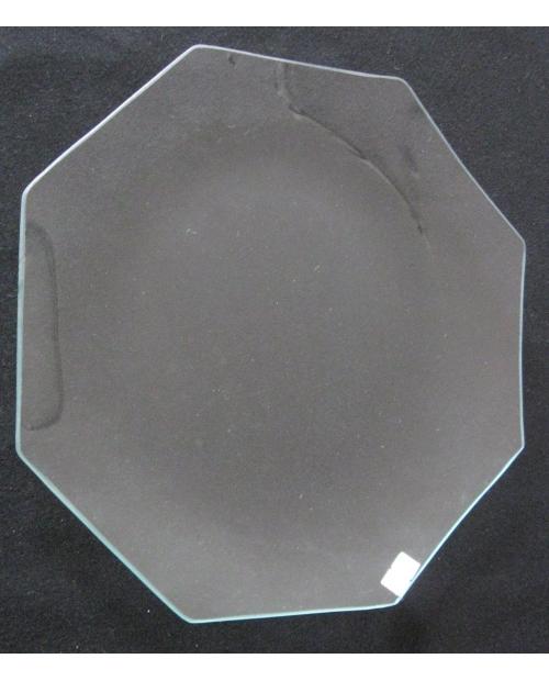 Stiklinė lėkštė (organinis stiklas), aštuonkampė 20cm