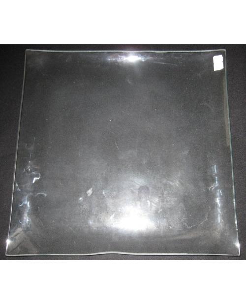 Stiklinė lėkštė (organinis stiklas), kvadratinė 30.0cmx30.0cm