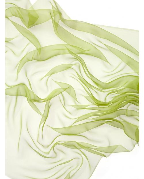 Šifonas 3.5 , 110cm pl., 18g/m 100% šilkas, laimo žalia spalva